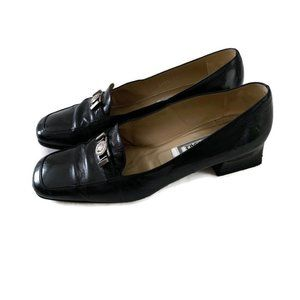 Gianni Versace Vintage Leather Low Heel Loafer